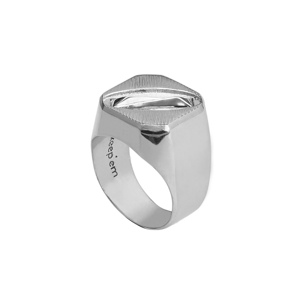 SWERVING signet ring(SILVER)